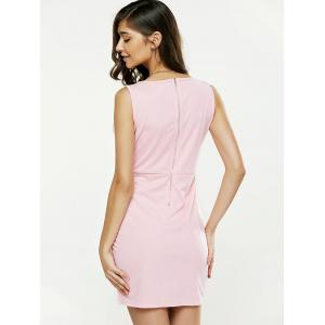 Strappy Plunging Neck Sleeveless Bodycon Dress - LIGHT PINK L