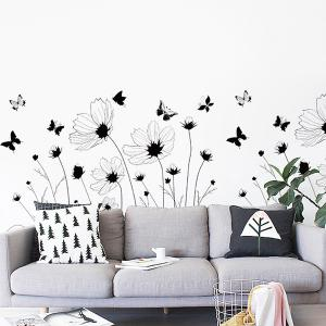 Removable High Quality Simple Floral Decorative Wall Art Sticker -