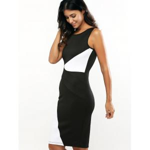 Color Block Sleeveless Bodycon Dress -