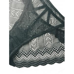 Alluring Openwork Solid Color Lace Panties -
