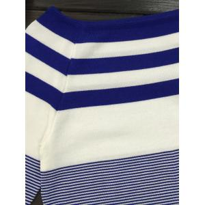 Long Sleeve Striped Boat Neck Pullover Sweater -