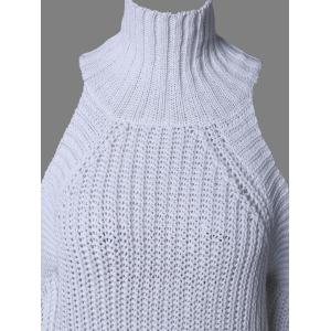 Fashionable Cold Shoulder Sweater -
