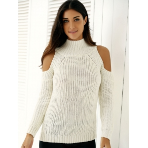 Warm Cold Shoulder Sweater -