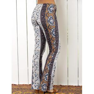 High Waist Tribal Geometric Print Flare Pants -