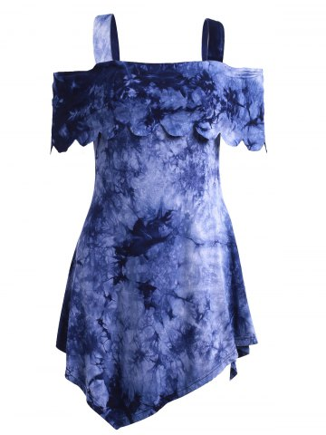 Store Casual High Low Tie Dye Dress