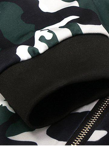 Hot Stand Collar Camouflage Pattern Zippered Jacket - XL CAMOUFLAGE Mobile