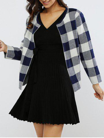 Hot Plaid Color Block Short Coat