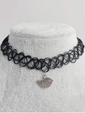 Unique Bird Shape Hollow Out Tattoo Choker