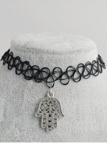 Palm Shape évider Tattoo Choker