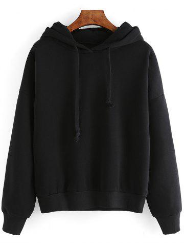 Discount Pure Color Loose-Fitting Hoodie