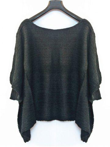 Shops Batwing Sleeve Asymmetrical Loose-Fitting Sweater