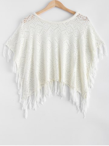 Fancy Hollow Out Fringed Loose-Fitting Knitwear