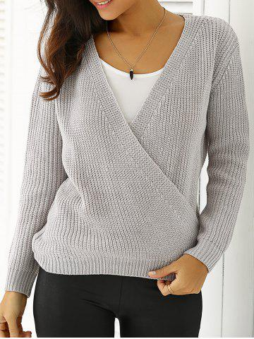 Latest Plunging Neck Loose-Fitting Sweater