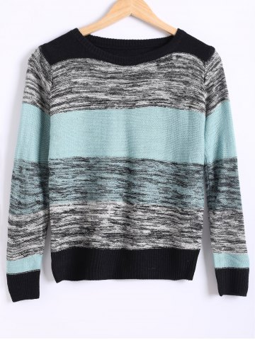 Shops Loose Color Block Heathered Sweater