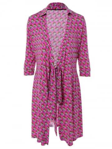 Affordable Tied-Up Floral Print Wrap Dress