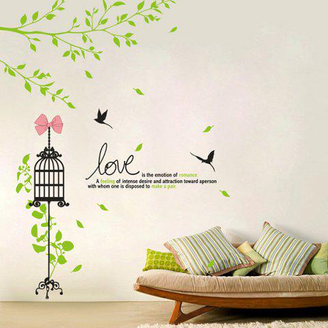 Online Adornment Cage Vinyl Removable DIY Wall Art Sticker COLORMIX