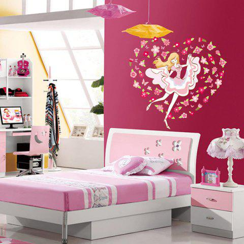 Shops DIY Flower Girl Decorative Vinyl Wall Stickers For Kids Rooms COLORMIX