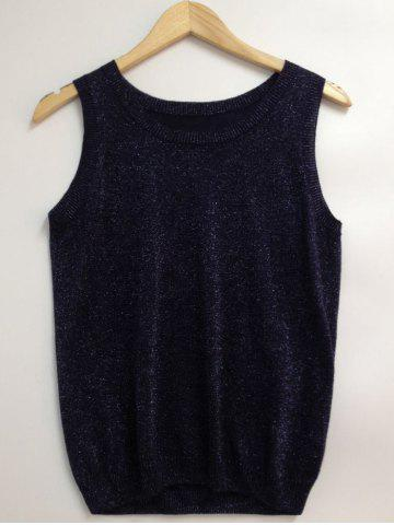 Chic Glittery Gold Wire Loose-Fitted Top
