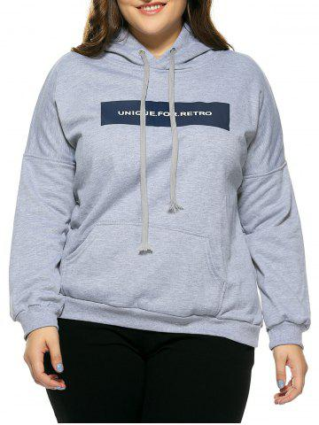 Fashion Plus Size Hooded Long Sleeve Letter Hoodie