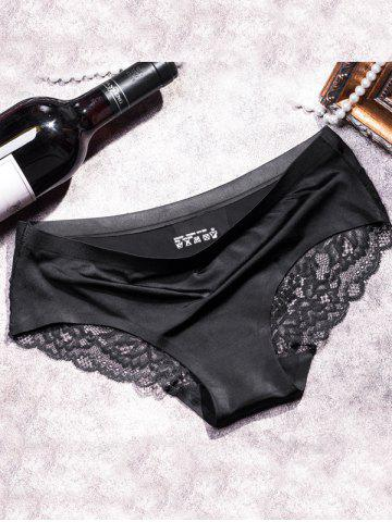 Latest Glamour Scalloped Floral Lace Splicing Briefs
