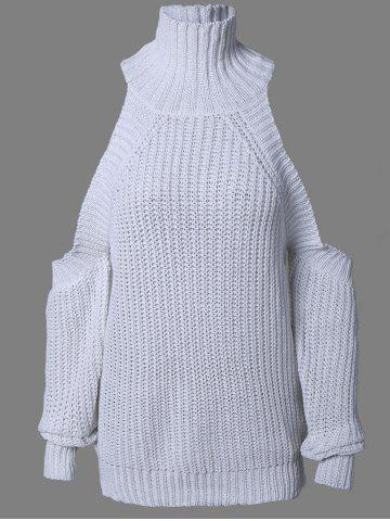 Cheap Fashionable Cold Shoulder Sweater