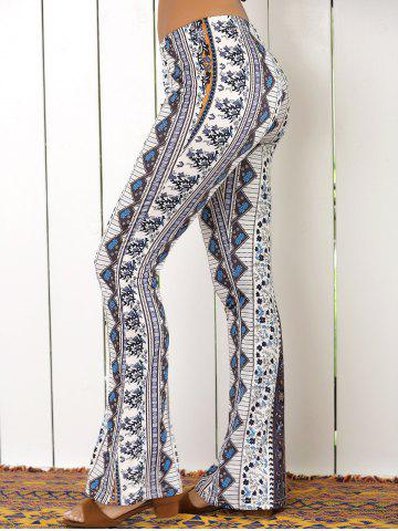 Discount High Waist Tribal Geometric Print Flare Pants - XL COLORMIX Mobile