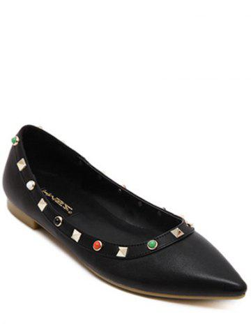 Best Pointed Toe Bead Rivet Flat Shoes