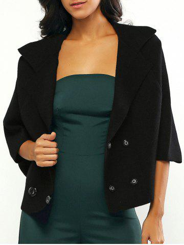 Affordable Bell Sleeves Buttoned Loose-Fitted Coat