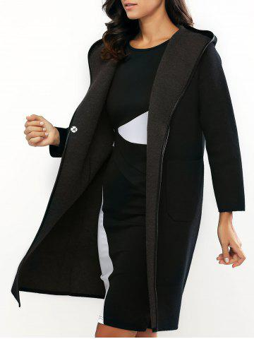 Discount Reversible Style Hooded Buttoned Coat