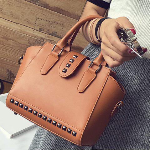 Discount Rivet Winged Handbag