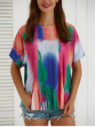 Tie-Dye Short Sleeve Loose T-Shirt