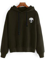 Casual Skull Print Long Sleeves Hoodie -