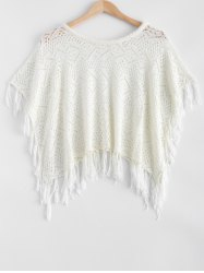 Hollow Out Fringed Loose-Fitting Knitwear -