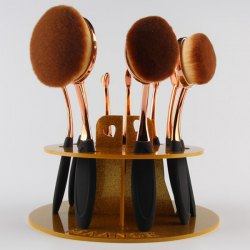 Brushtree Brush Holder Makeup Brush Display Stand - GOLDEN