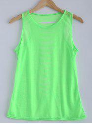 Candy Color Openwork Tank Top -