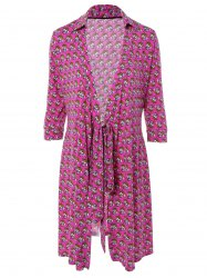 Tied-Up Floral Print Wrap Dress -