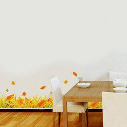 Fallen Leaves Vinyl Removable Decorative Wall Art Sticker