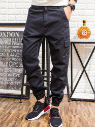 Pockets Design Loose Fit Jogger Pants