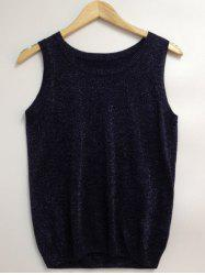 Glittery Gold Wire Loose-Fitted Top -