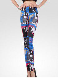 High Waist Stretchy Figure Print Leggings -