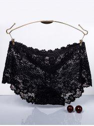 Scalloped Floral Lace Boyleg Briefs -