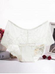 Floral Lace Splicing Scalloped Briefs -