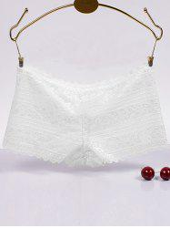 Brief Scalloped Hollow Out Lace Boyleg Briefs -