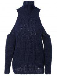 Mode froid épaule Sweater -