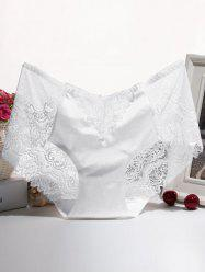 Scalloped Embroidered Lace Splicing Briefs -