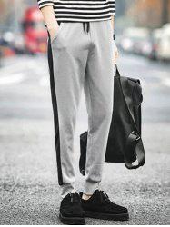 Side Stripe Design Loose Fitting Jogger Pants