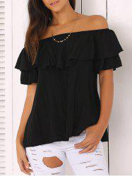 Off The Shoulder Loose-Fitting Flounce Blouse -