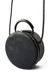 Round Leather Cross Body Bag