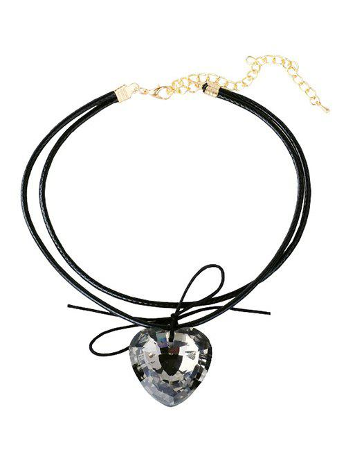 Buy Faux Crystal Heart Layered Choker
