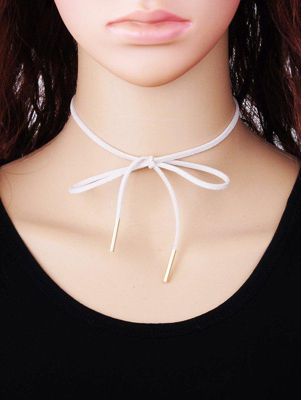 Outfits Bowknot Faux Suede Choker Necklace